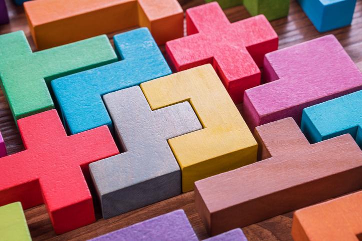 colorful interlocking blocks
